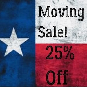 Moving to Texas sale all month long! See exclusion